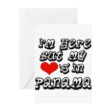 my heart is in Panama Greeting Card