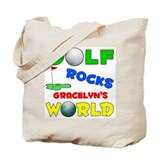 Golf Rocks Gracelyn's World - Tote Bag