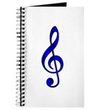 """Metallic"" Dk. Blue Treble Clef Journal"