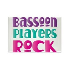 Bassoon Players Rock Rectangle Magnet