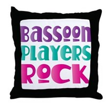 Bassoon Players Rock Throw Pillow