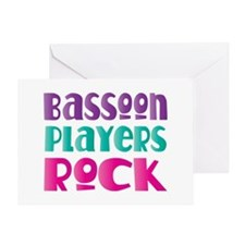 Bassoon Players Rock Greeting Card