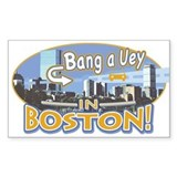 Bang a Uey Boston Rectangle Decal