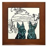 Scottish Terrier Proverb Framed Tile