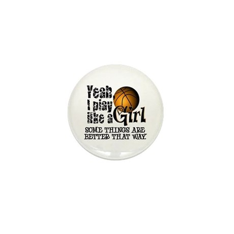 Play Like a Girl - Basketball Mini Button