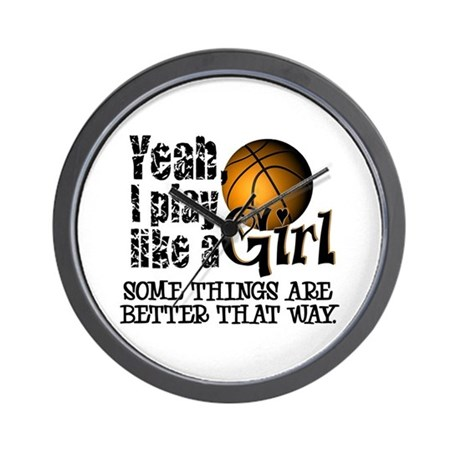 Play Like a Girl - Basketball Wall Clock