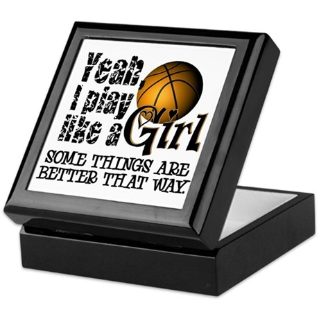 Play Like a Girl - Basketball Keepsake Box