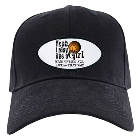 Play Like a Girl - Basketball Black Cap