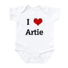 I Love Artie Infant Bodysuit