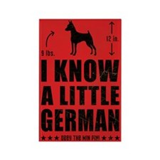 LITTLE GERMAN - Min Pin Magnets (10 pack)