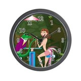 """After Hours At The Pink Flamingo."" Wall Clock"