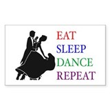 Eat Sleep Dance Rectangle Decal