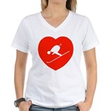 Love Skiing Heart Shirt
