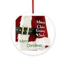 Vietnamese Santa Ornament (Round)