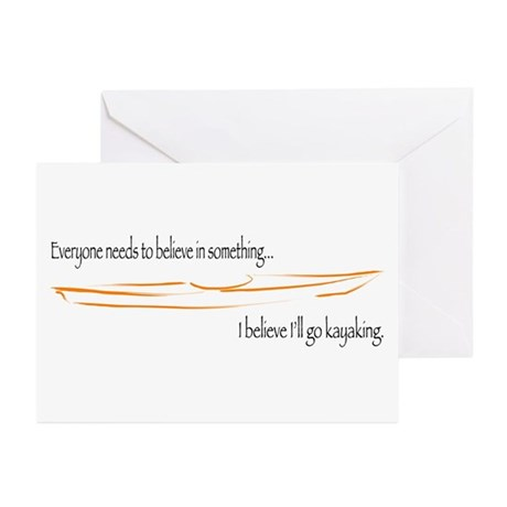 Believe in Kayaking 2 Greeting Cards (Pk of 20)