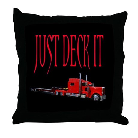 Just Deck It Throw Pillow