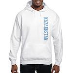 Kazakhstan Stamp Hooded Sweatshirt