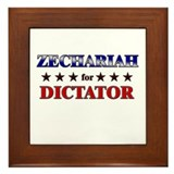 ZECHARIAH for dictator Framed Tile