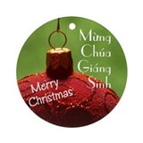 Vietnamese Christmas Ornament (Round)