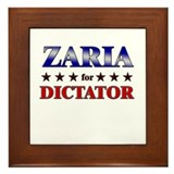 ZARIA for dictator Framed Tile