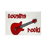 Cousins Rock! red guitar Rectangle Magnet