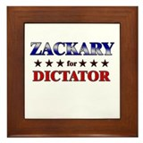 ZACKARY for dictator Framed Tile