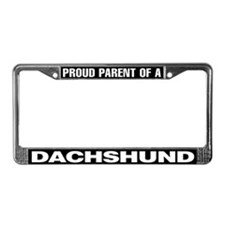 Proud Parent of a Dachshund License Plate Frame
