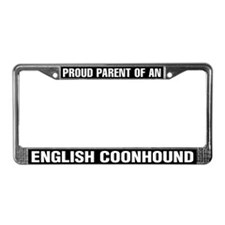 English Coonhound License Plate Frame