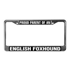 English Foxhound License Plate Frame