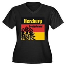 Herzberg Deutschland Women's Plus Size V-Neck Dark