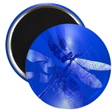 "Blue Dragonfly 2.25"" Magnet (100 pack)"