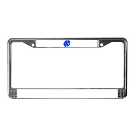 Blue Dragonfly License Plate Frame