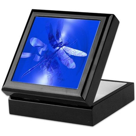 Blue Dragonfly Keepsake Box