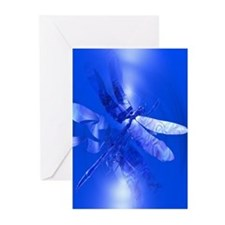 Blue Dragonfly Greeting Cards (Pk of 10)