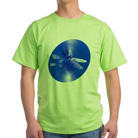 Blue Dragonfly Green T-Shirt