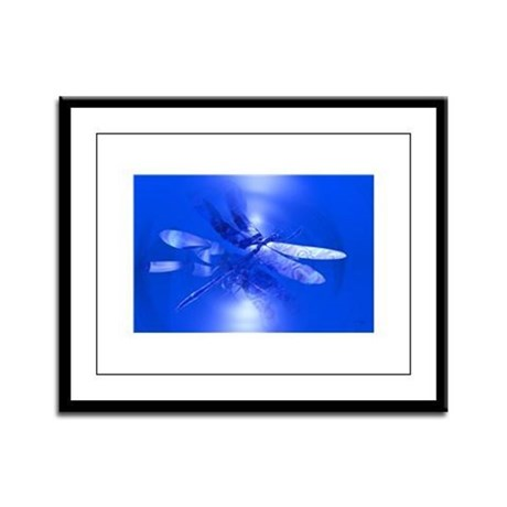Blue Dragonfly Framed Panel Print