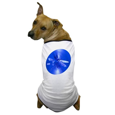 Blue Dragonfly Dog T-Shirt