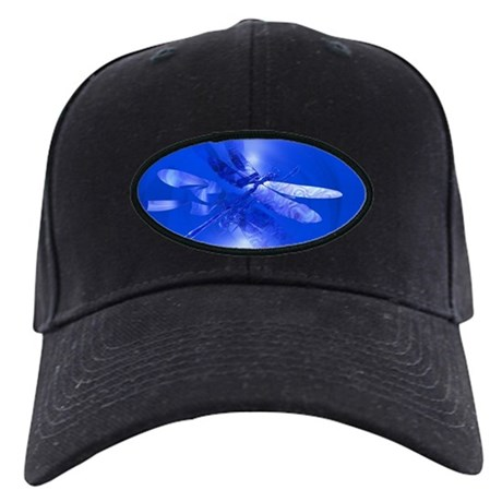 Blue Dragonfly Black Cap