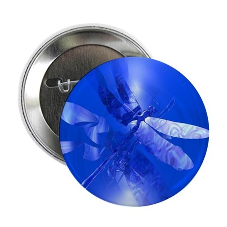 "Blue Dragonfly 2.25"" Button (100 pack)"