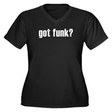 got funk? Women's Plus Size V-Neck Dark T-Shirt