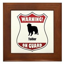 Toller On Guard Framed Tile