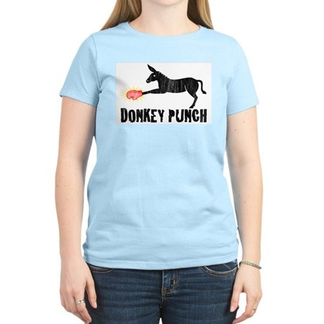 Donkey Punch Womens Pink T-Shirt