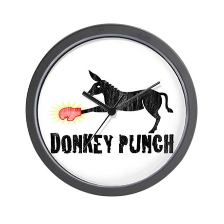 Donkey Punch Wall Clock