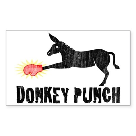 Donkey Punch Rectangle Sticker
