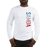 Samoa Stamp Long Sleeve T-Shirt