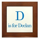 D is for Declan Framed Tile