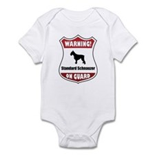 Schnauzer On Guard Infant Bodysuit