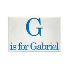 G is for Gabriel Rectangle Magnet (100 pack)