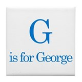 G is for George Tile Coaster