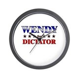 WENDY for dictator Wall Clock